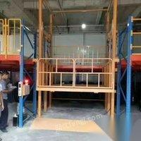 供应二手导轨式液压升降机固定式液压厂房货梯导轨式货物提升机