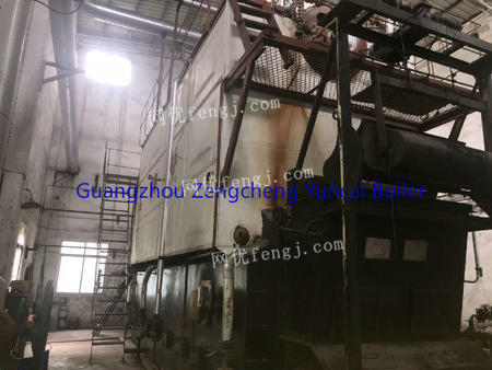Selling used 10T SN biomaterial steam boiler