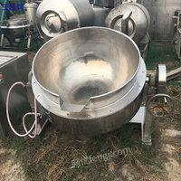 安徽淮北供应80台100L—600L二手阿胶食品厂设备夹层锅出售九成新
