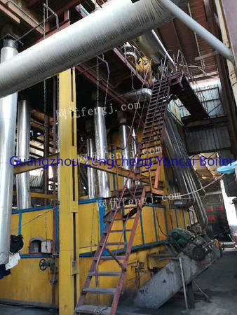 Selling used 25T chain coal fired steam boiler,the year of 2015