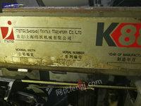 出售二手二十台彩屏K88剑杆织机设备,2008年的