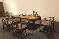 红木家具六件,一桌五椅