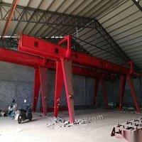10吨跨度12+4.5+4.5双主梁龙门处理带轨道