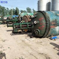 湖南郴州出售100台二手5000升搪瓷反应釜 二手化工设备