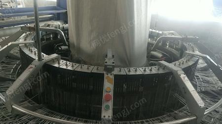 厂家出售六梭圆织机2台,3.1M拉丝机1整套,大型液压机1台,15KW发电机1台,单色滚筒印刷机1台