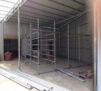 湖南长沙崭新镀锌钢管材/货架管 货架扣件/低价转让