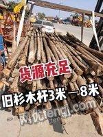 南阳地区出售旧杉木杆3米-8米 货源充足