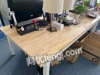 北京朝阳区出售6台办公长桌二手办公设备电议或面议