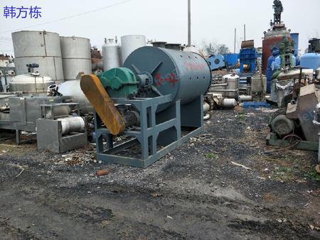 销售5000升二手耙式干燥机、二手反应釜、二手冷凝器