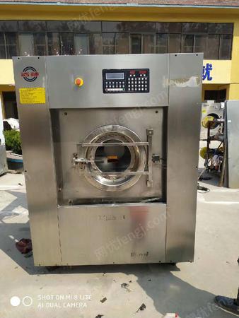出售天津洗衣房设备全套转让有二手干洗机和二手水洗机工业洗脱机