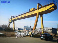 Sale of used double-beam gantry crane with 32 tons weight 30 meters span