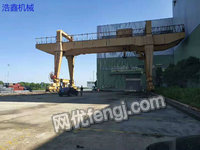 Sale of used type A-250 gantry crane, 32 meters span, 30 tons weight.