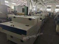 青岛锐峰木工机械出售各种规格油漆线。60宽(1米,1.3米)95成新。