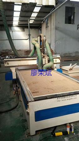 出售二手木工机械鼎力双工位开料机(两主轴+钻包)