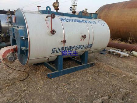 出售一台15年乐山0.5吨卧式燃气燃油蒸汽锅炉-河北二手燃油锅炉求购