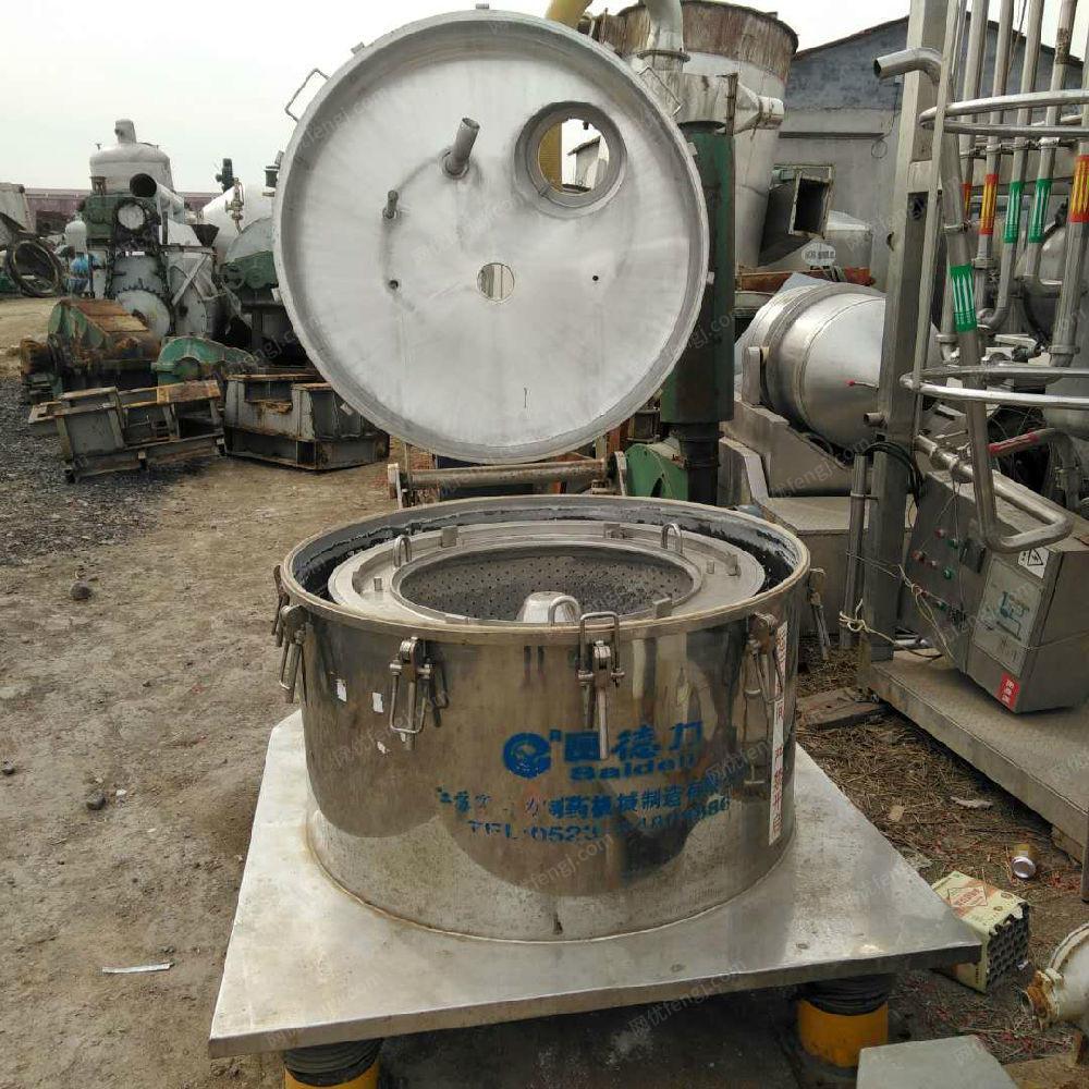 山东济宁出售50台平板吊带离心机其它化工设备电议或