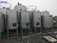 出售5000升二手发酵罐、乳品发酵
