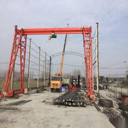 因拆迁转场搬迁,转让5吨龙门吊,跨度11.5米,高度9米