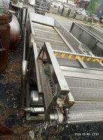 山东济宁出售1台6米长果蔬汽泡清洗机二手果蔬处理设备24000元