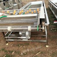 山东阜阳出售1台6米长果蔬汽泡清洗机二手果蔬处理设备24000元