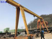 出售二手MH10/5吨全包厢电动葫芦龙门吊一台,跨度20.5米