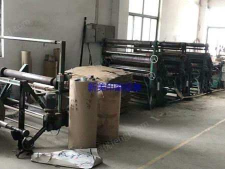 浙江温州出售1台二手1米3单面瓦楞机