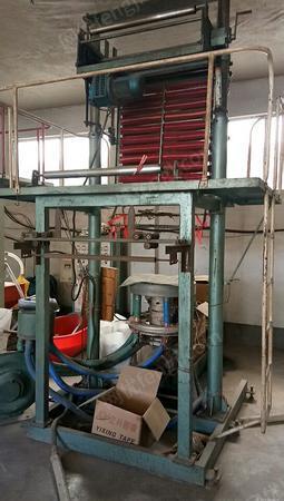 塑料厂出售大连吹40吹膜机1台,江苏90、70冷切、热切制袋机2台