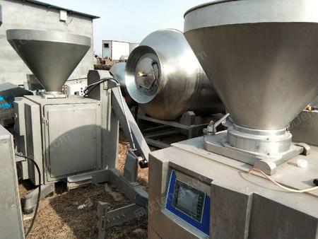 山东济宁出售3台6500型叶片定量真空灌肠机二手肉制品加工设备45000元
