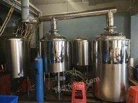 转让二手自酿啤酒设备   200升500升精酿啤酒设备