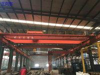 出售二手湖北荆州工地  电动葫芦桥式起重机双32吨跨度18.1米