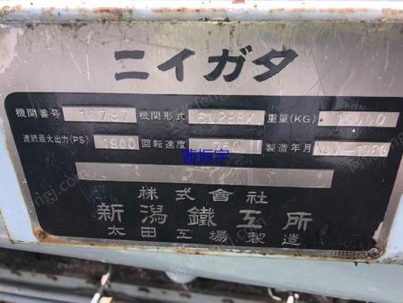 出售新瀉6L28BX柴油機