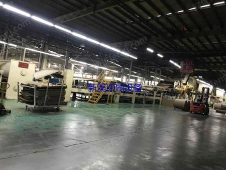 出售台湾产二米宽七层瓦愣生产线总长80米,新买200万美元