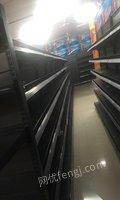 广东揭阳超市打包出售单面货架25组,双面22组。货头两3组,冰柜一条  15800元