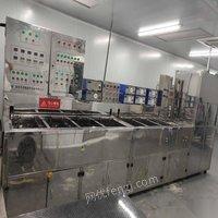 江苏苏州工厂转让10槽超声波清洗机 工业清洗机