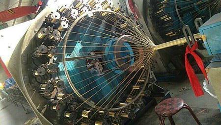 厂家出售钢丝编织机1套.闲置报价,有图片,