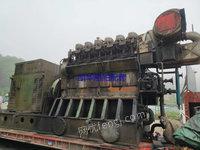 现货库存现货广州马克3000马力柴油机配2100千瓦发电机组三套,工𠂆备用机,八成