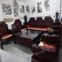 河南郑州转让红木沙发。老板桌 29800元