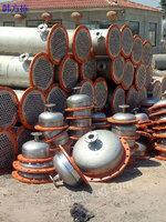 出售二手冷凝器、50平方、材质304不锈钢、无缝管