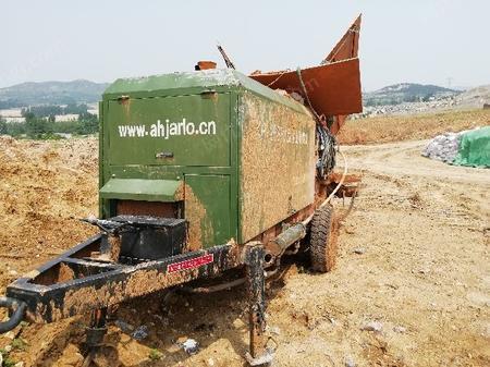 因工程完工转让园林绿佳乐新型25款泵式化客土湿喷机