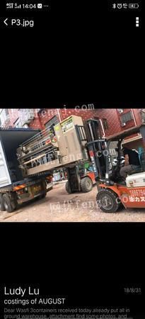 浙江金华2台布料褶景机器4.3*1.68.168米 40000元打包出售