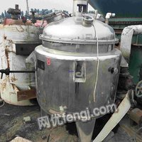 Sell used coil stainless steel reactor,within 500 liters