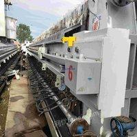 供应二手隔膜压滤机  450平方全自动翻板隔膜压滤机
