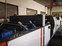 出售17年预涂膜覆膜机带镰刀,气动拉断,除粉,电磁加热,120米的速度。安徽合肥