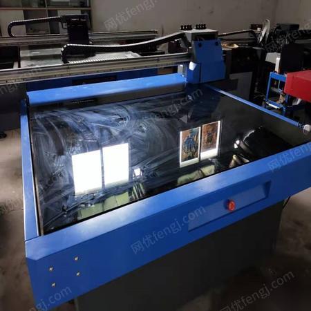 贵州铜仁由于订单量少出售二手1613uv平板打印机双喷头白彩同出uv打印机 26000元