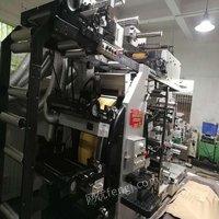 河北张家口转让一台兆龙7+1全轮转,二手轮转机,不干胶印刷机