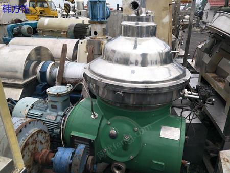 出售500型二手碟式分离机、二手反应釜、二手冷凝器、二手蒸发器