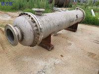 山东济宁出售80平方二手冷凝器、二手平板换热器等