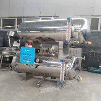 山东潍坊出售新到二手1.2立方水浴式电加热杀菌锅 接三厢电即可用 25000元