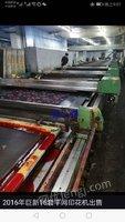 二手巨新平网印花机出售