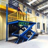 山东济南电动升降机升降平台导轨升降机升降货梯装卸平台登车桥出售